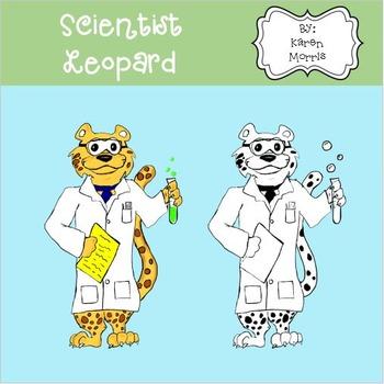 Leopard Scientist Clip Art