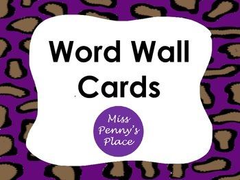 Leopard Word Wall