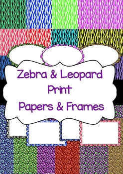 Leopard & Zebra Print Papers and Cover frames