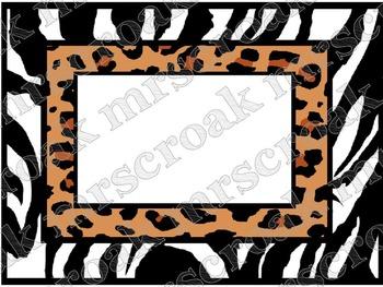 Labels: Leopard & Zebra, 10 per page