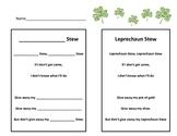 Leprechaun Writing  St Patrick's Day - Leprechaun Stew Poem