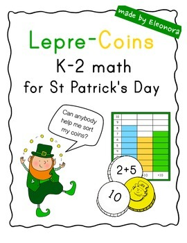 """""""Lepre-Coins"""" --  K-2 math for St Patrick's Day"""