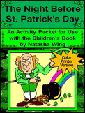 St. Patrick's Day Reading Activities: The Night Before St. Patrick's Day