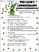 St. Patrick's Day Reading Activities: Ten Lucky Leprechauns Activity Packet