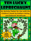 St. Patrick's Day Reading Activities: Ten Lucky Leprechauns Activity Packet