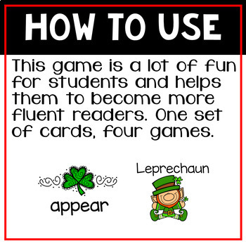 Instant Words a Sight Word Game Set Seven