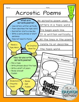 Acrostic Poem for St. Patrick's Day