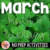 March Math & Literacy Activities