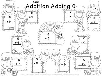 Leprechaun Addition Adding 0 Freebie
