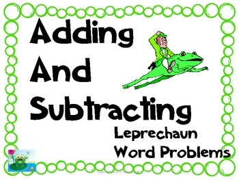 Leprechaun Addition and Subtraction Story Problems