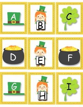 Leprechaun Alphabet Write the Room