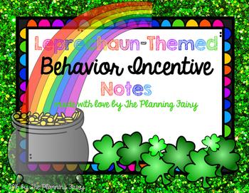 Leprechaun Behavior Incentive Notes