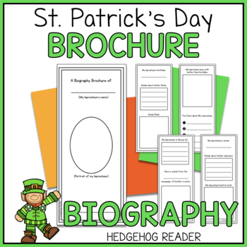 Leprechaun Biography Brochure Project - No Prep