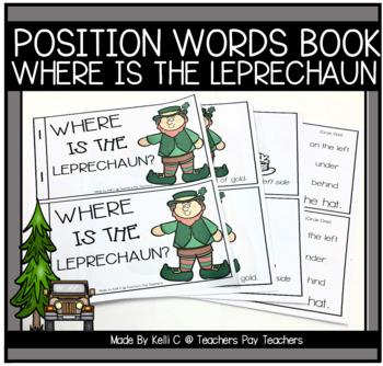 Leprechaun Book Using Position Words For St. Patricks Day