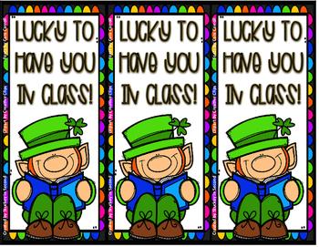 Leprechaun Bookmarks {Freebie}