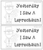 Leprechaun Coin Booklet