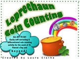 Leprechaun Coin Counting: READY TO GO, differentiated math center!