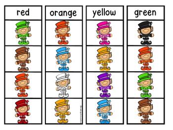 Leprechaun Color Clip Cards