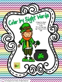 Leprechaun Color by Sight Word Freebie