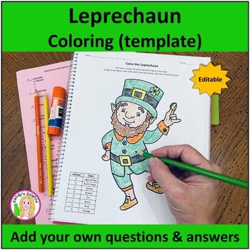 Leprechaun Coloring Template