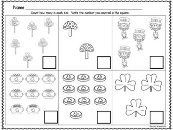 Leprechaun Count And Clip 1-10 And Counting Mats