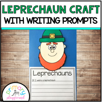 Leprechaun Craft With Writing Prompts/Pages