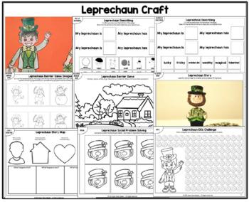 Leprechaun Craft for Speech Therapy