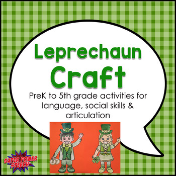 Leprechaun Craft for Speech Therapy