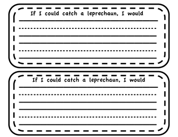 Leprechaun Craft and Writing Activity