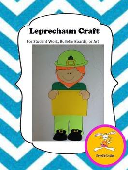 Leprechaun Craft -  for Student Work, Bulletin Boards, or Art