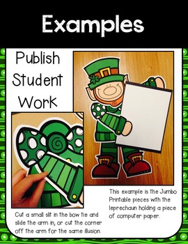 Leprechaun Crafts, Puppet and Decorations {Single Classroom Use}