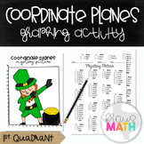 St. Patrick's Day DAB: Coordinate Plane Graphing Activity! (1st Quadrant)