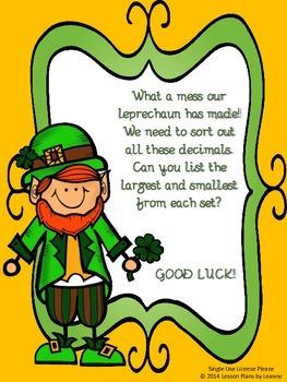 St. Patrick's Day Decimal Scavenger Hunt