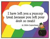 Leprechaun Desk Fairy Notes