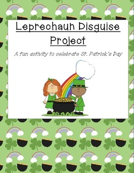 Leprechaun Diguise Project for St. Patrick's Day-(with wri