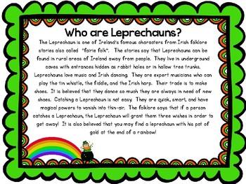 Leprechaun Drawing and Shamrock Wishes
