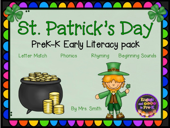 Leprechauns/ St.Patricks Day Early Literacy Pack