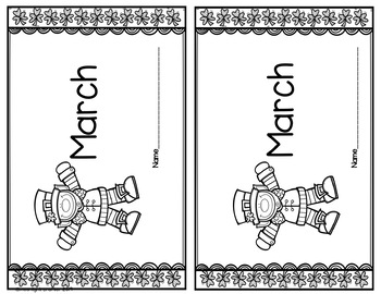 Leprechaun Emergent Readers with Writing Center Materials