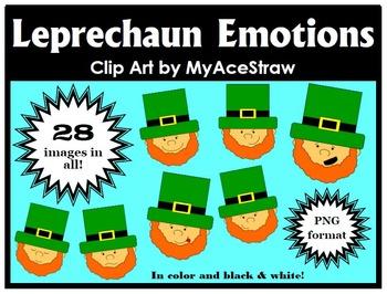 Leprechaun Emotions Clip Art