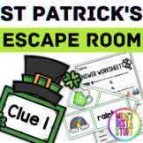 Leprechaun Escape Room - St Patrick's Day - Pre K to 1st Grade