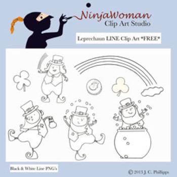 Leprechaun *FREE* Line Art