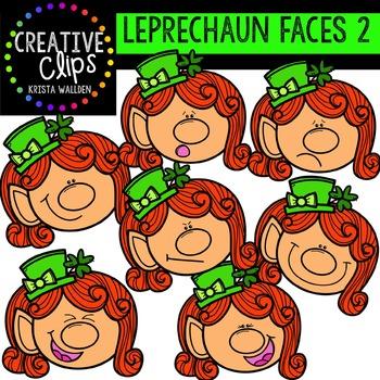 Leprechaun Faces 2 {Creative Clips Digital Clipart}
