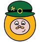 Leprechaun Faces Clip Art