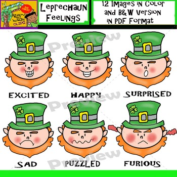 Leprechaun Faces - Feelings