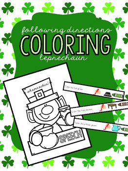 Leprechaun Following Directions - Freebie