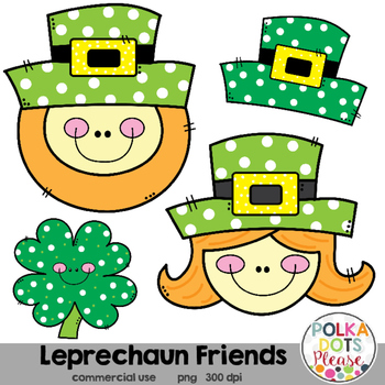 Leprechaun Friends St. Patrick's Day Clipart {Graphics for Commercial Use}