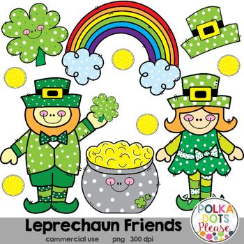 Leprechaun Friends St. Patrick's Day Clipart {Graphics for