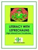 St. Patrick's Day Leprechaun High Interest Low Vocabulary Literacy Unit