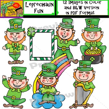 Leprechaun Fun - Set of Cliparts