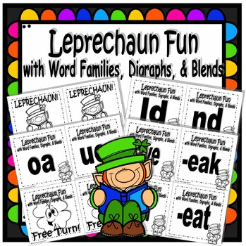 Leprechaun Fun With Word Families Digraphs And Blends TpT